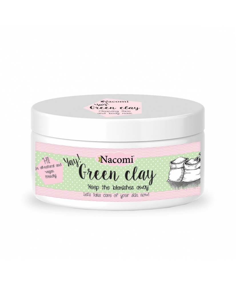 Nacomi green clay - cleansing mask for the face and body 77g - Onde comprar