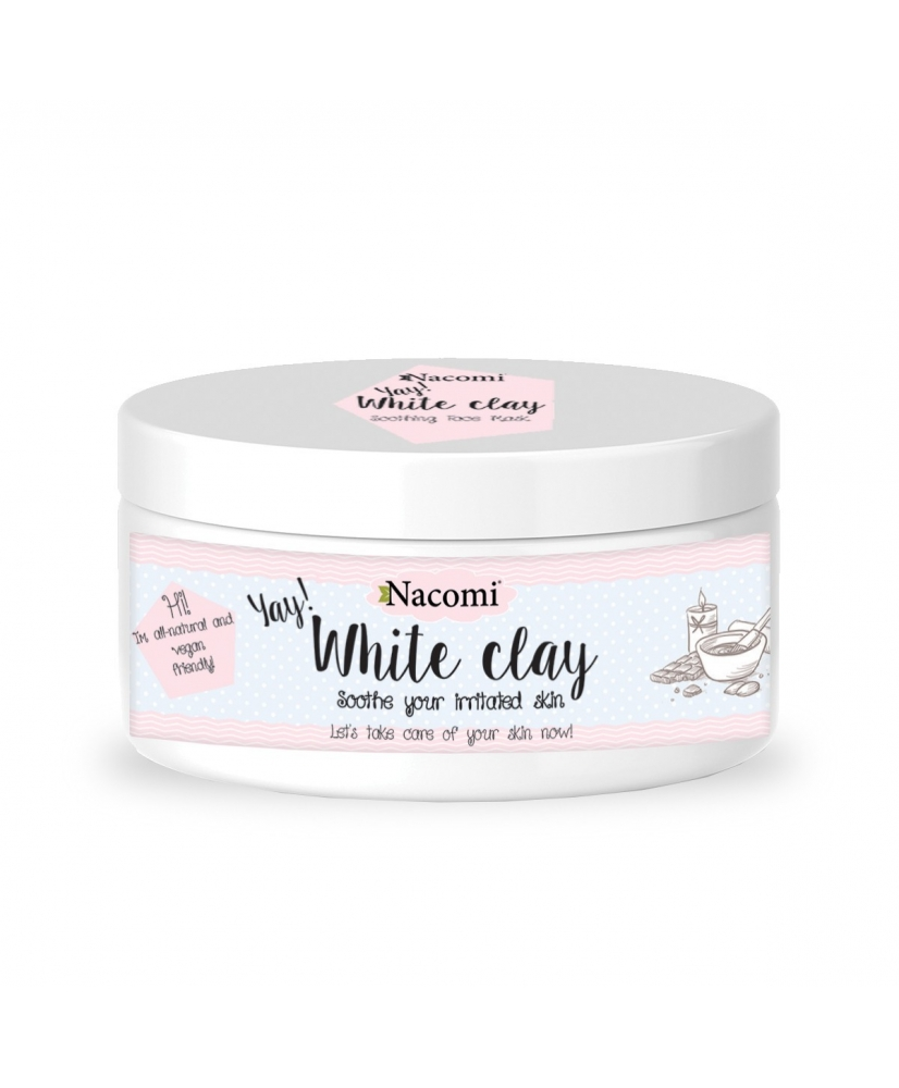 Nacomi white clay - soothing face and body mask 43g - Onde comprar