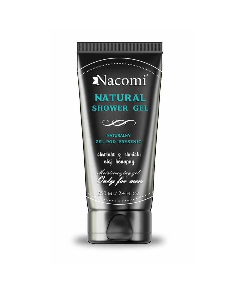 Nacomi Men – natural shower gel with hemp seed oil & hops extract 250ml - Onde comprar