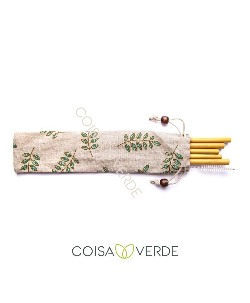 CoisaVerde - Bamboo straw set of 5 pieces - Onde comprar
