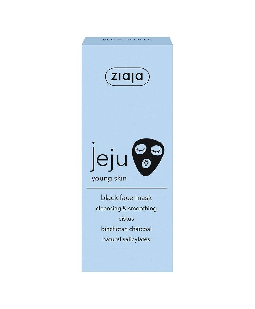 Ziaja JEJU – Cleansing & smoothing black face mask 50ml - Onde comprar