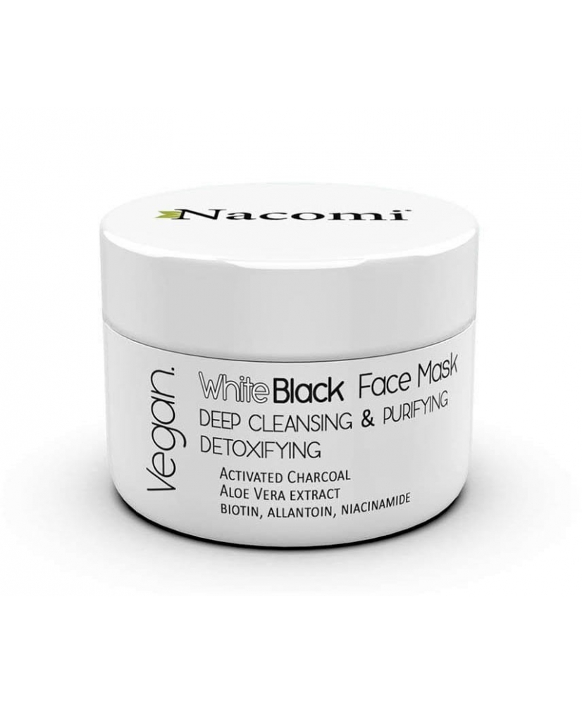 Nacomi – White and black face mask with active carbon 50ml - Onde comprar