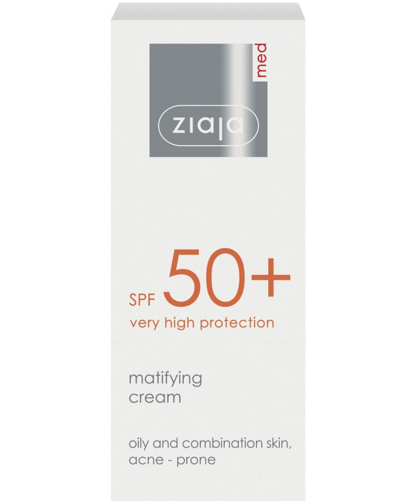 Ziaja MED – Matifying and protection face cream SPF 50+ 50ml - Onde comprar