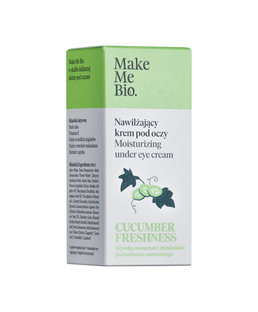 Make me bio - organic eye cream with vitamin e and cucumber extract 15ml - Onde comprar